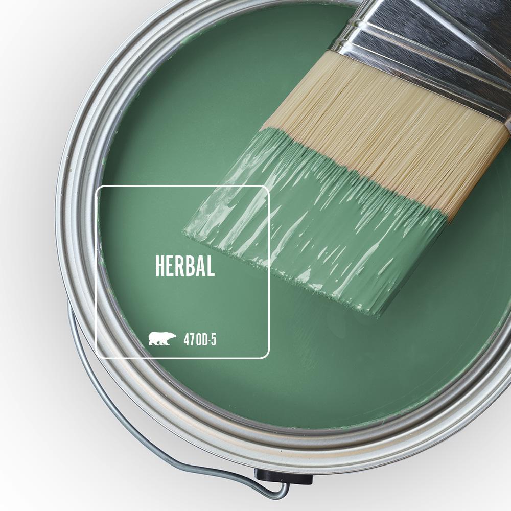 Reviews For Behr Premium Plus 1 Gal 470d 5 Herbal Hi Gloss Enamel Interior Exterior Paint 830001 The Home Depot