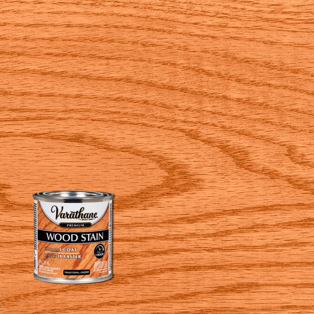Varathane 8 oz. Traditional Cherry Premium Fast Dry Interior Wood Stain