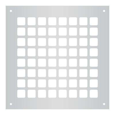 Square Series 8 in. x 8 in. Steel Grille, Gray with Mounting Holes
