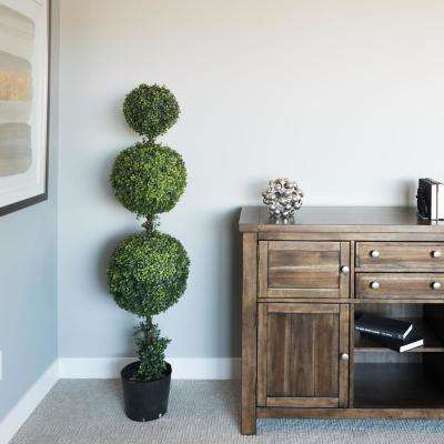 4 ft. Boxwood Triple Ball Everyday Topiary with Pot (UV)