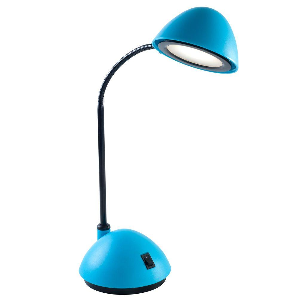 Lavish Home 21 in. Blue Bright Energy Saving LED Desk Lamp