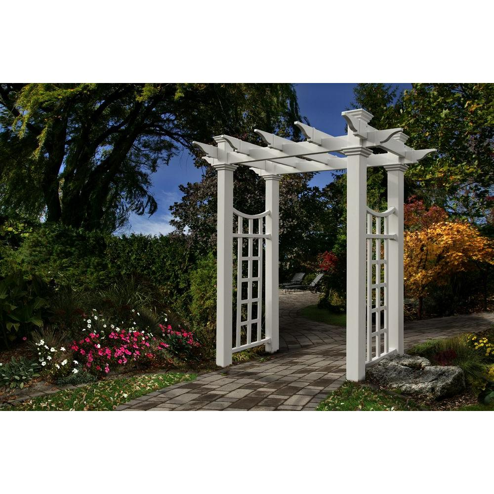 Fairfield Deluxe 50 in. x 92 in. Vinyl Arbor
