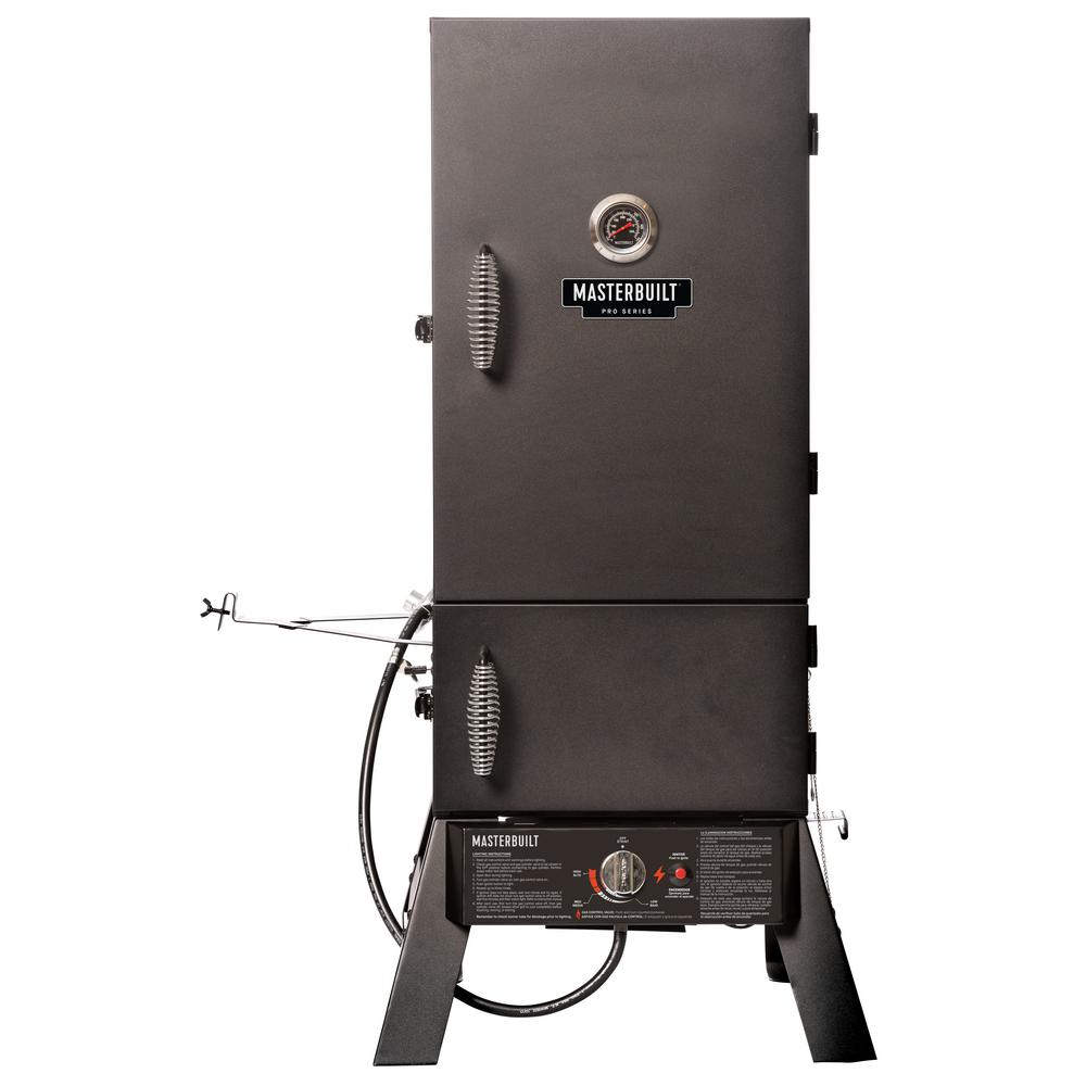 Masterbuilt Pro MDS 230S Dual Fuel Smoker With this Masterbuilt Dual Fuel Smoker youll achieve competition-ready results in your own backyard. Whether you love the flavor or charcoal, or prefer the consistent heat of propane, the Pro Series MDS 230S allows you to smoke delicious foods all year long. Master the art of smoking with Masterbuilt.
