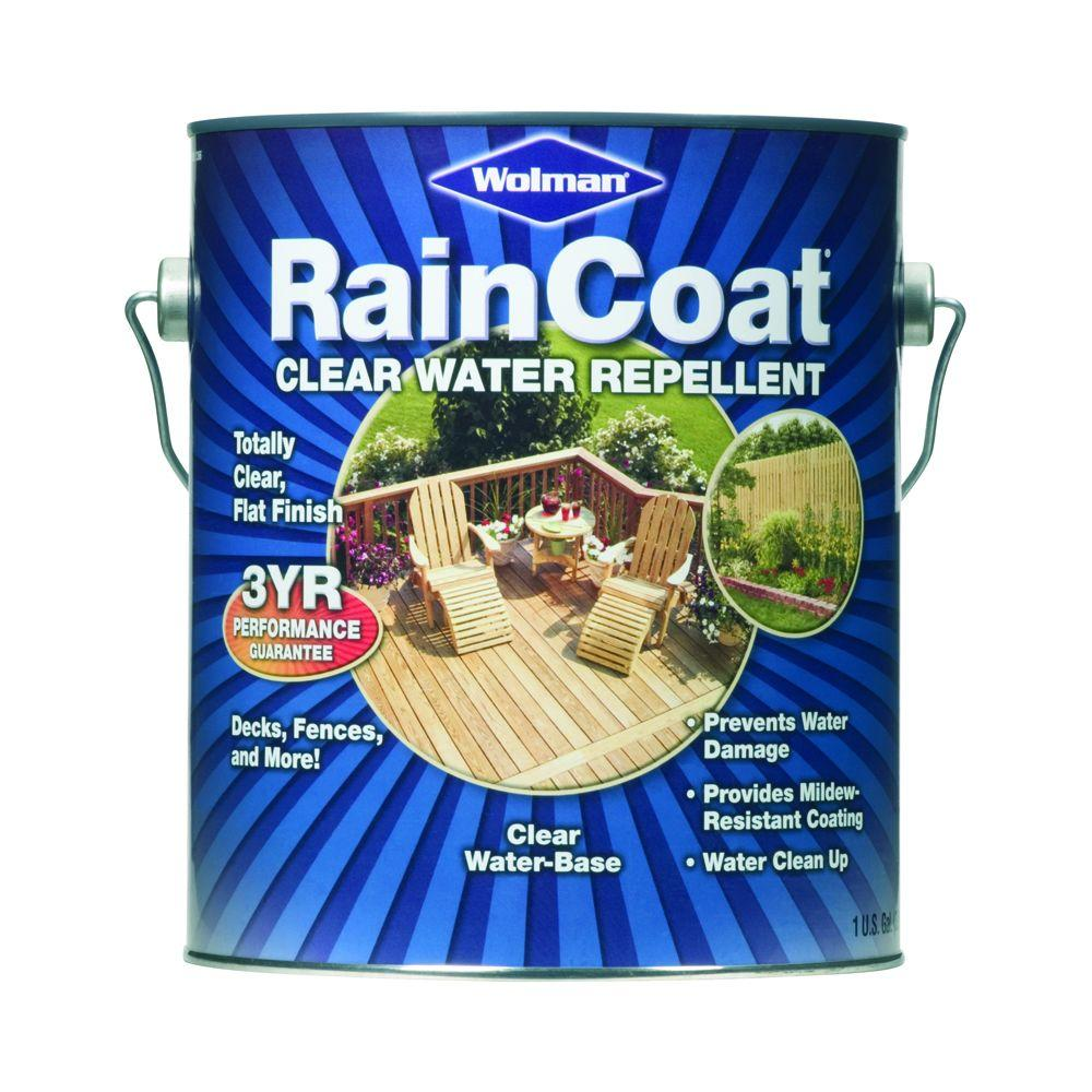 Wolman 1-gal. RainCoat Water-Based Clear Water Repellent Sealer-DISCONTINUED