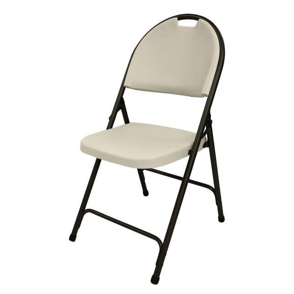Earth Tan Plastic Seat Outdoor Safe Folding Chair