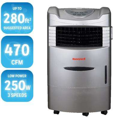 470 CFM 4-Speed Indoor Portable Evaporative Cooler with Remote Control for 280 sq. ft.