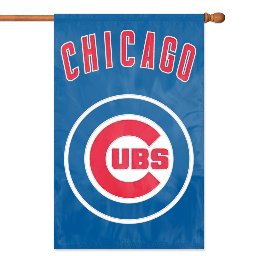 Party Animal Chicago Cubs Applique Banner Flag Afcub The Home Depot
