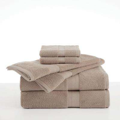 Abundance 6-Piece Cotton Blend Towel Set in Linen