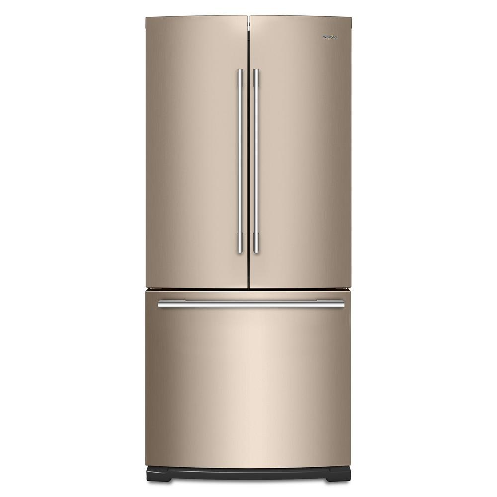 20 Cu Ft French Door Refrigerator: Whirlpool 20 Cu. Ft. French Door Refrigerator In Sunset Bronze-WRFA60SMHN