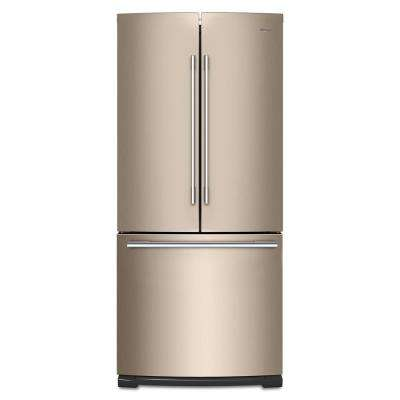 30 in. W 20 cu. ft. French Door Refrigerator in Sunset Bronze