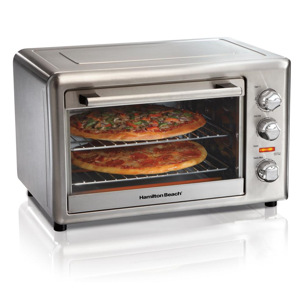 Countertop Stainless Steel Toaster Oven with Convection and Rotisserie
