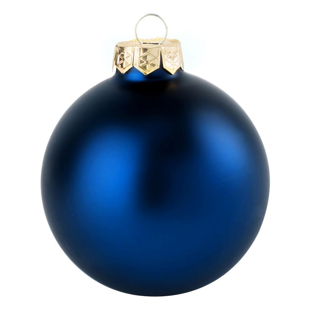 Whitehurst 1.25 in. Midnight Blue Matte Glass Christmas ...