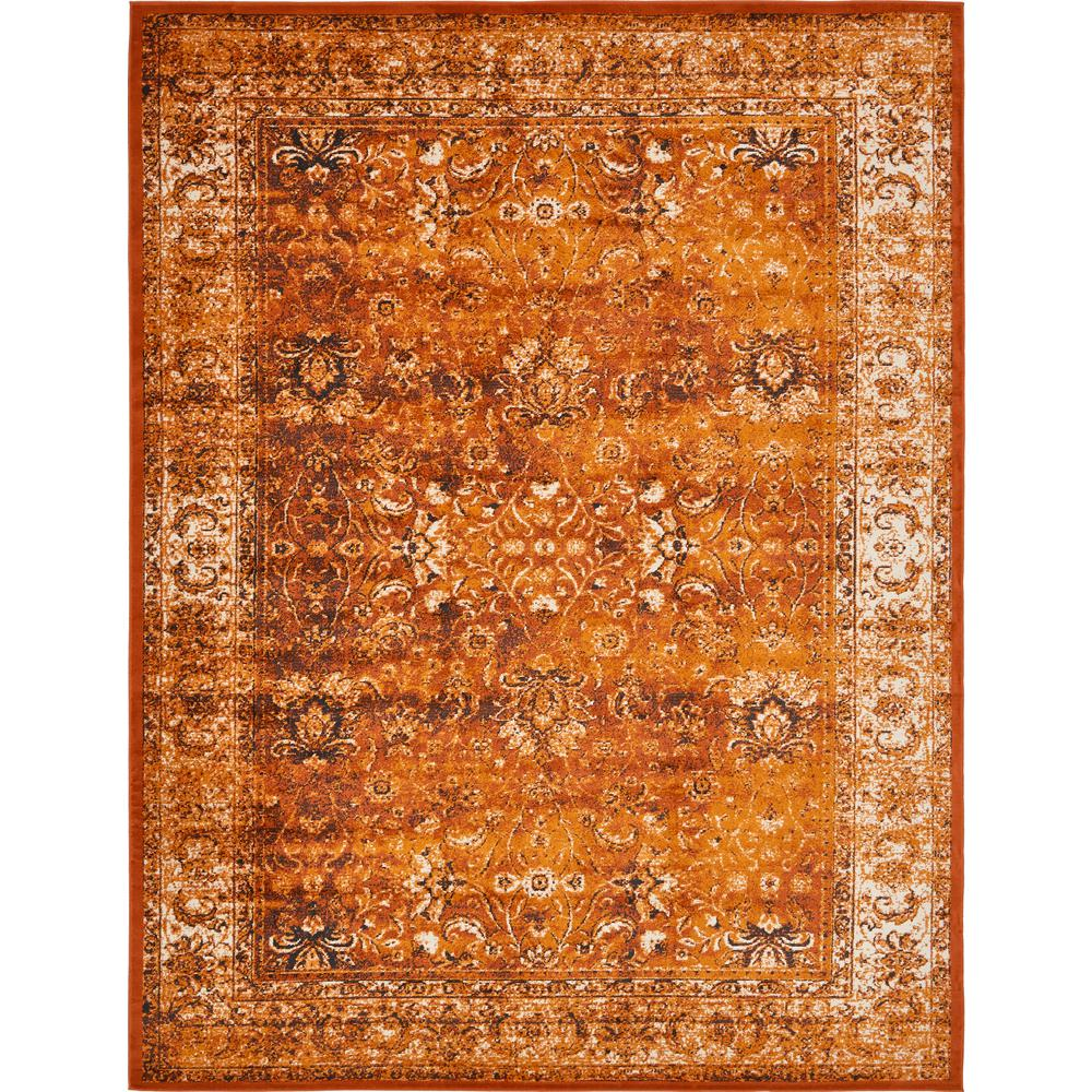 Linoleum Rug Turquoise Terracotta Area Rug Or Kitchen Mat: Unique Loom Istanbul Terracotta And Ivory 10 Ft. X 13 Ft