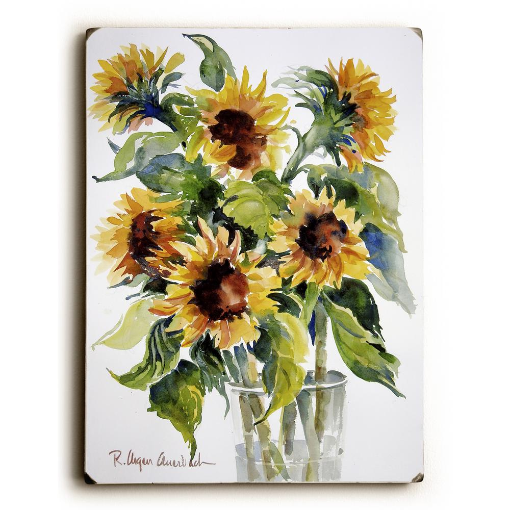 "9 in. x 12 in. ""Glass full of Sunflowers"" by ArtLicensing"