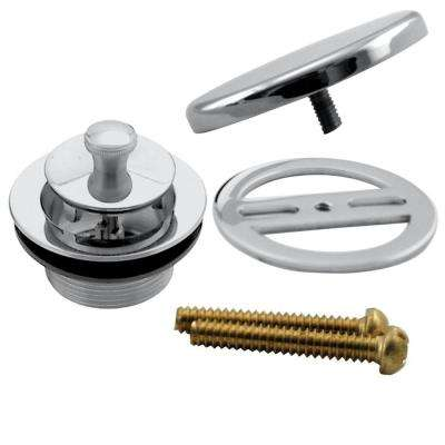Illusionary Overflow with Lift and Turn Bath Drain Trim Only in Polished Chrome