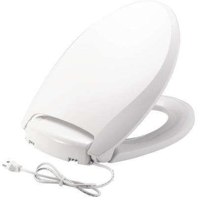 Radiance Heated Round Closed Front Toilet Seat in White
