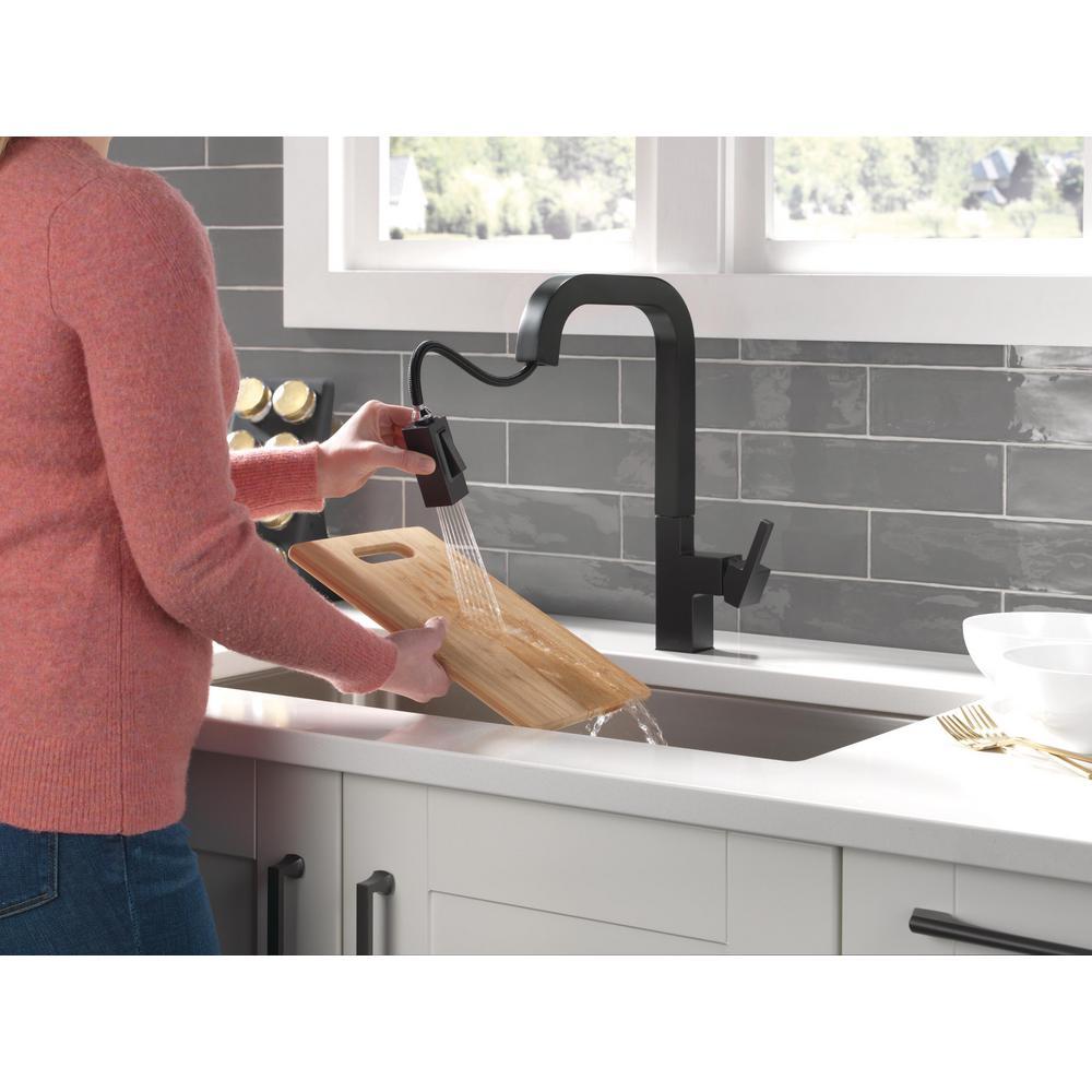 Delta Black Kitchen Faucets Kitchen The Home Depot