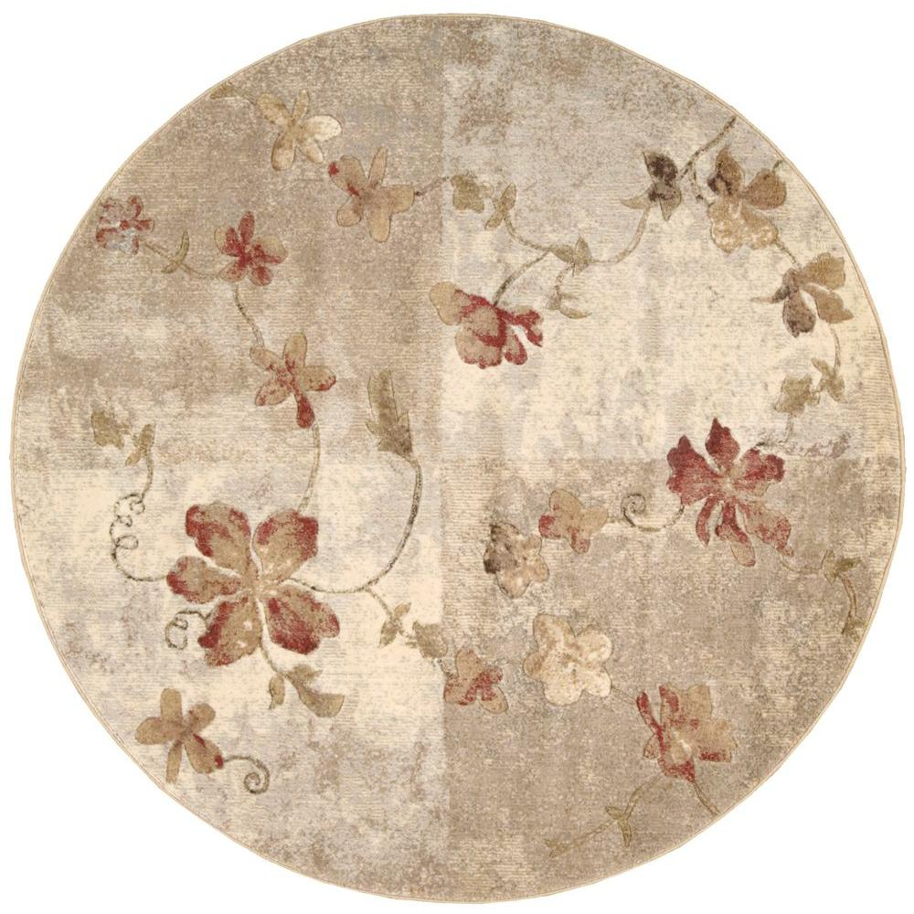 Nourison Somerset Multicolor 6 Ft X Round Area Rug