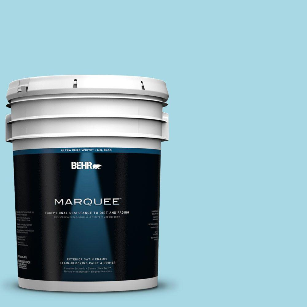 BEHR MARQUEE 5-gal. #530C-3 Winsome Hue Satin Enamel Exterior Paint