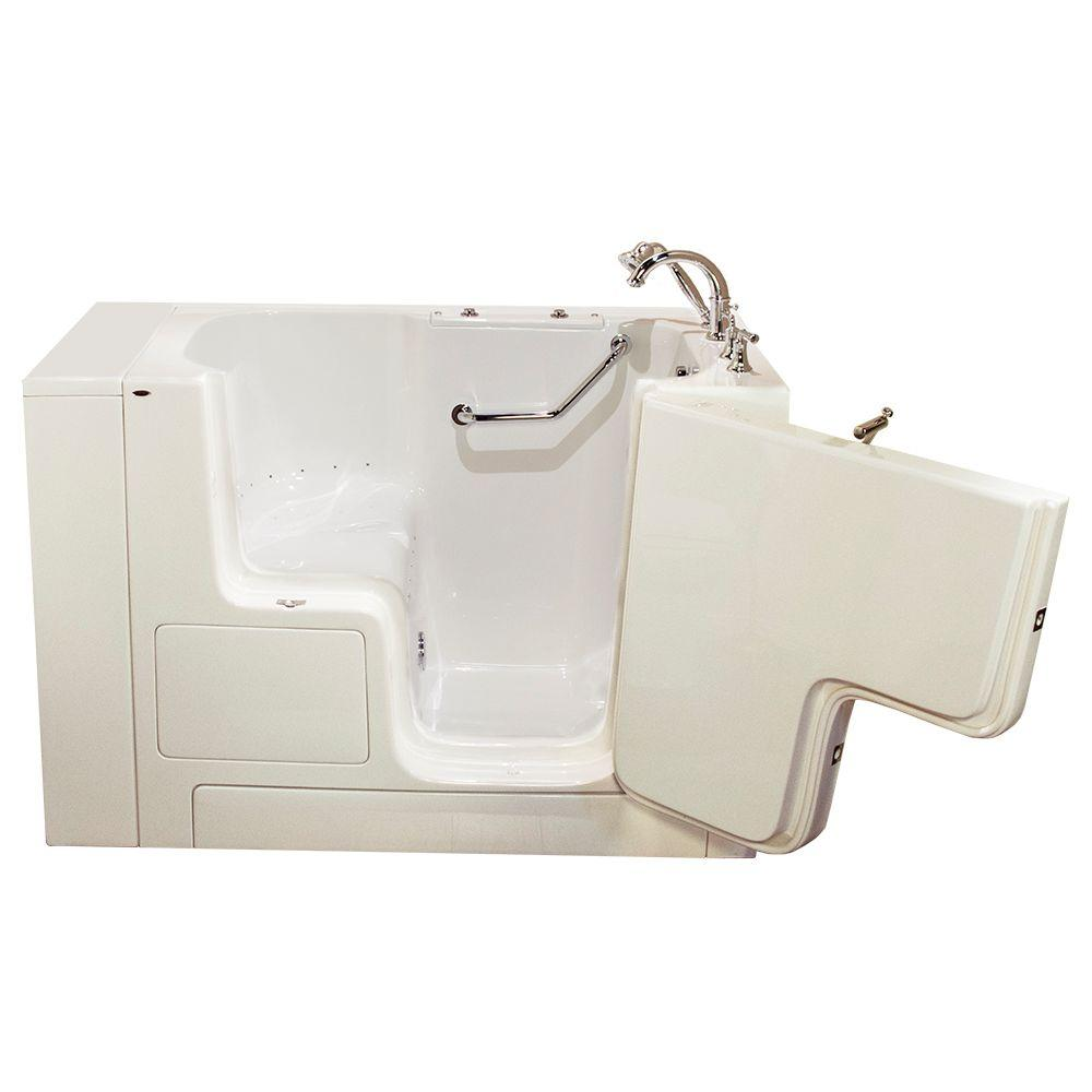 American Standard OOD Series 52 in. x 32 in. Walk-In Air Bath Tub with Right Outward Opening Door in Linen