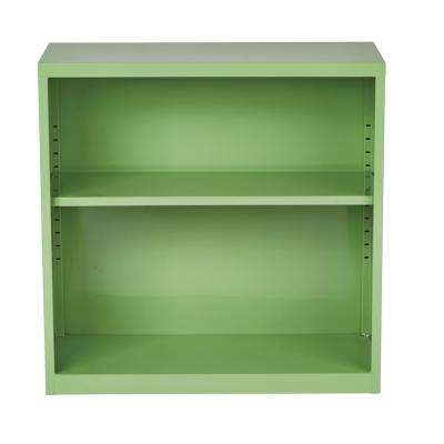 Metal Bookcase in Green