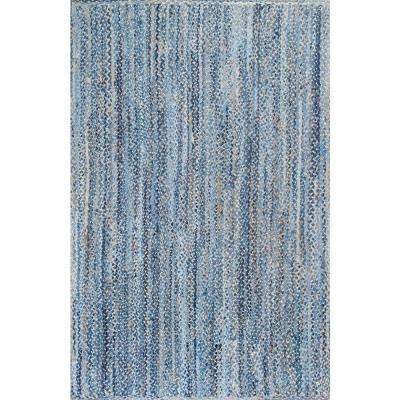 Otelia Denim and Jute Blue 4 ft. x 6 ft. Area Rug