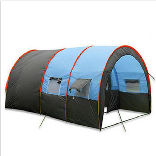 16 ft. x 10 ft. x 82 in. 10-Person Double Layer Outdoor Camping Tent Weatherproof Extended Dome Tent