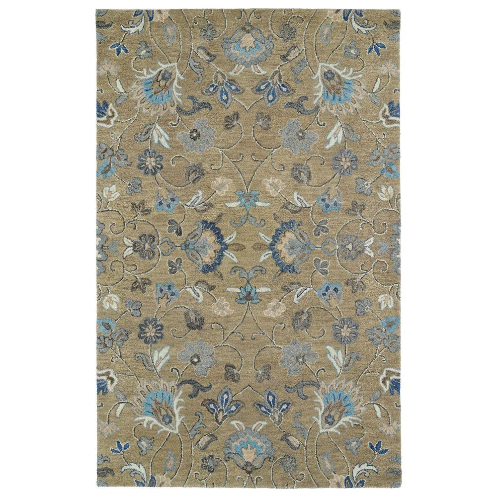 Helena Light Brown 10 ft. x 14 ft. Area Rug