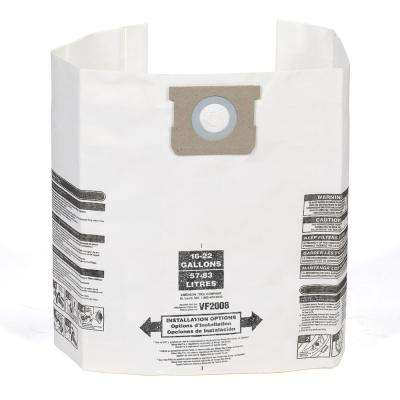 15 Gal. to 22 Gal. Dust Bag Filter for Shop-Vac and Genie Wet/Dry Vacs (6-Pack)