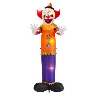 12 ft. Scary Clown with Spinning Buttons Animated Halloween Inflatable
