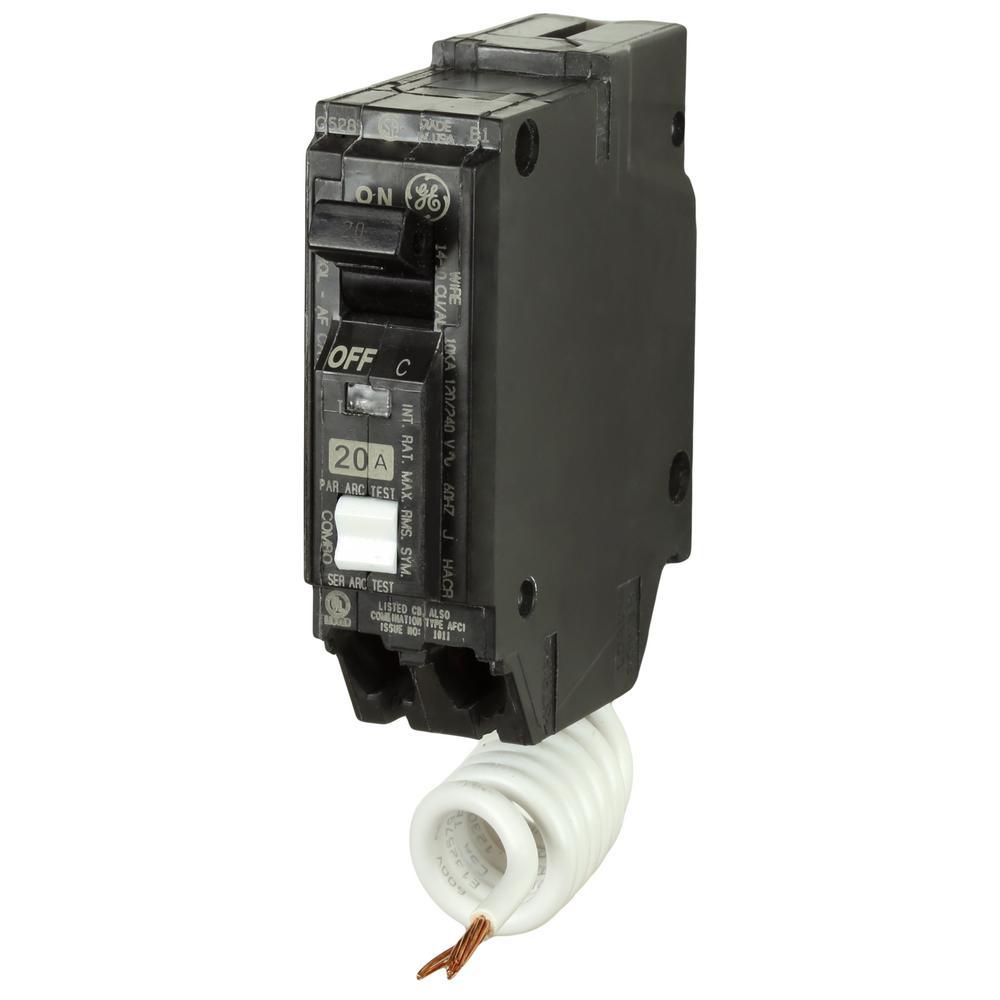 Q-Line 20 Amp 1 in. Single Pole Arc Fault Combination Circuit Breaker