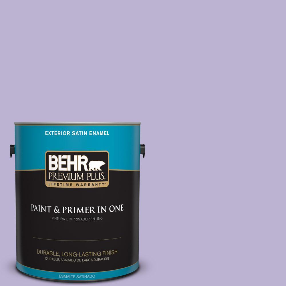 BEHR Premium Plus 1-gal. #M560-3 Grape Hyacinth Satin Enamel Exterior Paint