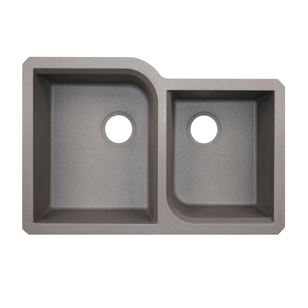 Swan undermount granite 32 in 0 hole 5545 double bowl kitchen sink swan undermount granite 32 in 0 hole 5545 double bowl kitchen sink workwithnaturefo