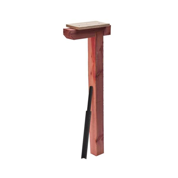 Cedar Drive-in, Top Mount, Mailbox Post, Natural Finish