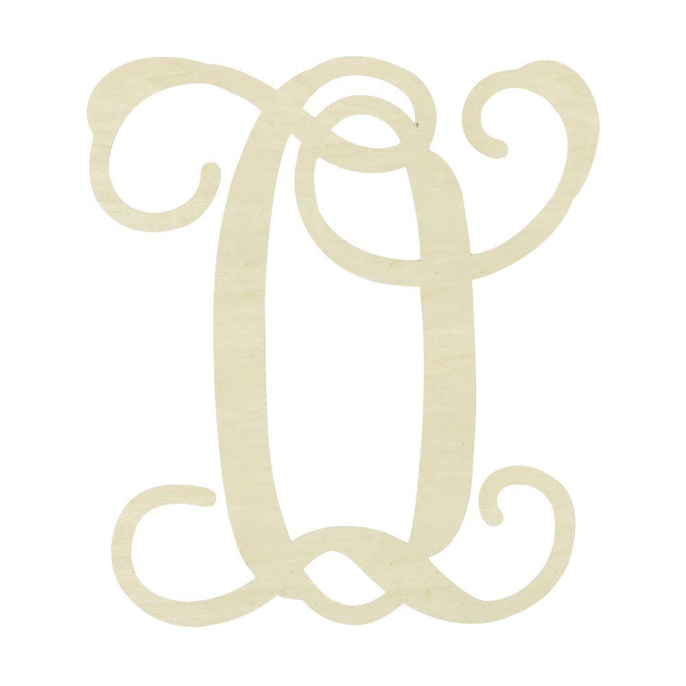 jeff mcwilliams designs 195 in unfinished single vine monogram o