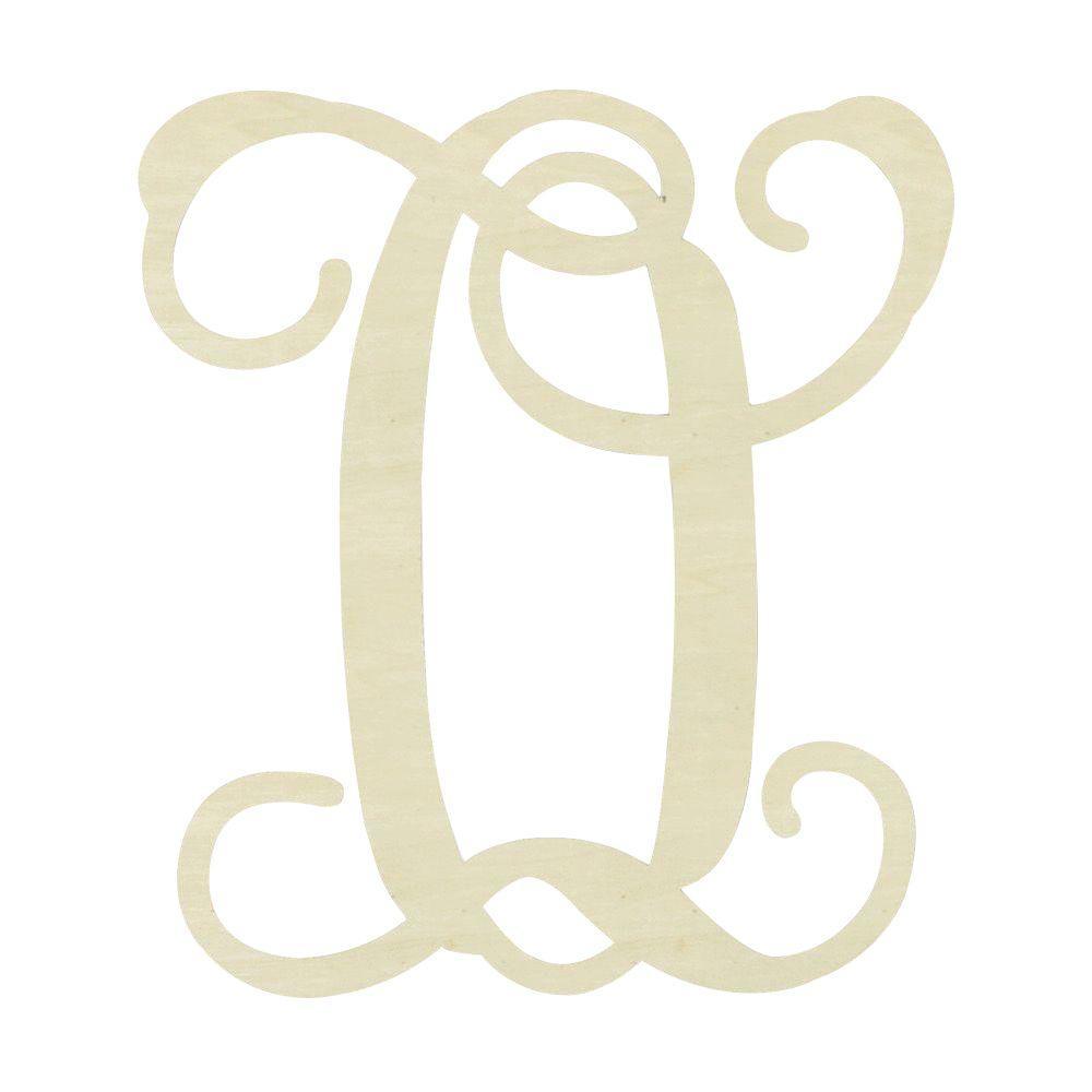 Jeff mcwilliams designs 195 in unfinished single vine for Letter o monogram