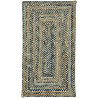 Tooele Green 5 ft. x 8 ft. Concentric Area Rug