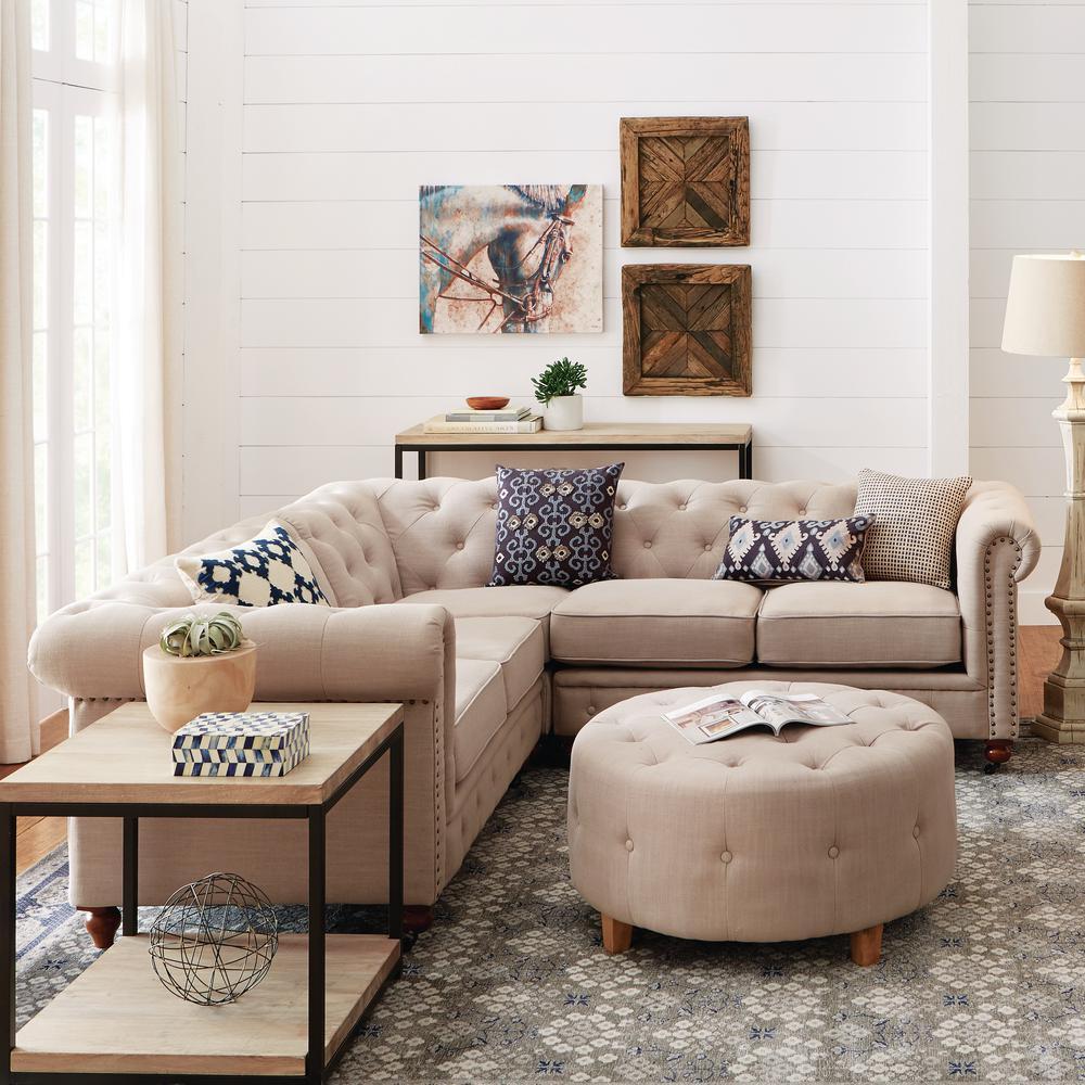 Home Decorators Collection Gordon 3-Piece Natural Linen ...