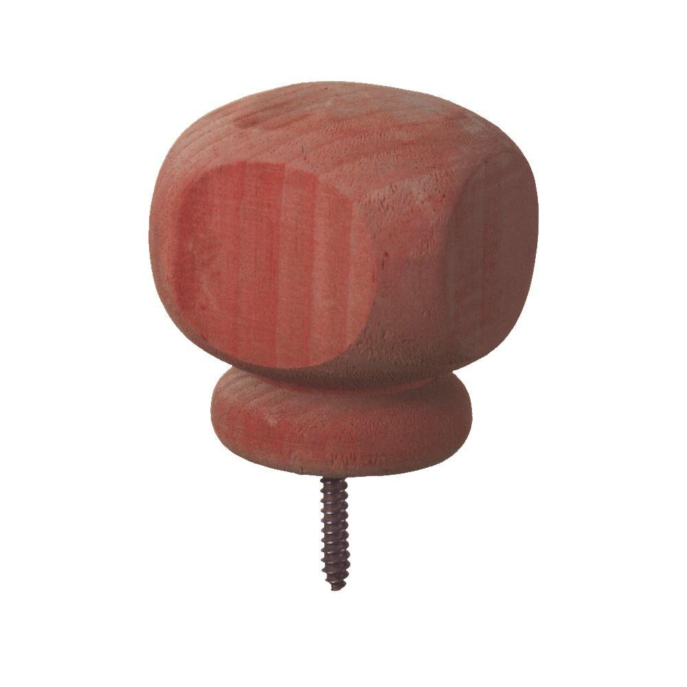 4 in. x 4 in. Finial Contemporary Pressure-Treated Redwood-Tone Pine WeatherShield Post Cap