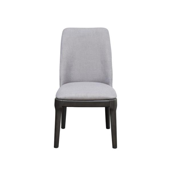 Acme Furniture Madan Fabric and Gray Oak Side Chair (Set of