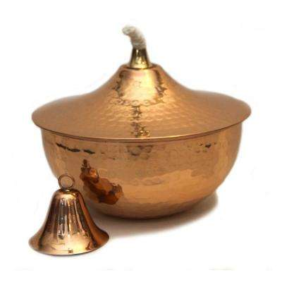 Hammered Copper Deco Tabletop Torch