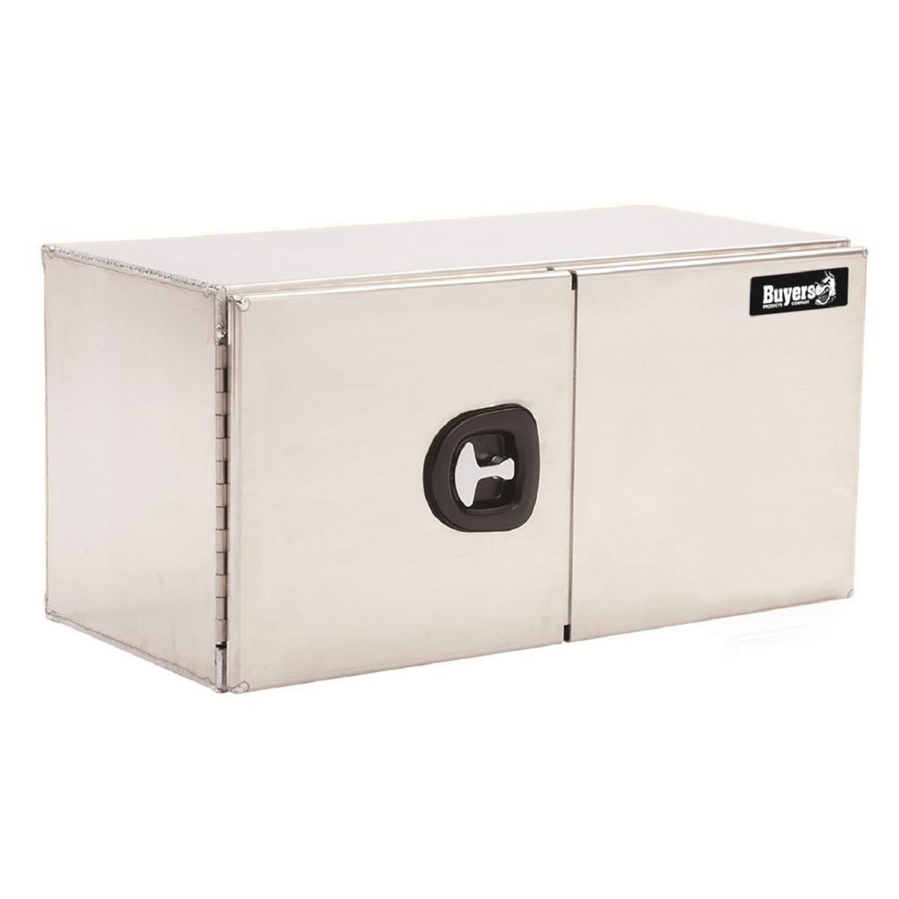 Smooth Aluminum Underbody Truck Box with Double Barn Door, 24 in. x 24 in. x 60 in.