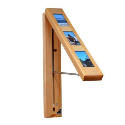 Picture Perfect Wood Wall Mounted Clothes Storage System Natural Pine with 12 in. Chrome Plated Hanging Rod