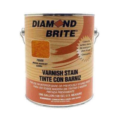1 gal. Brown Mahogany Oil-Based Interior Varnish Stain