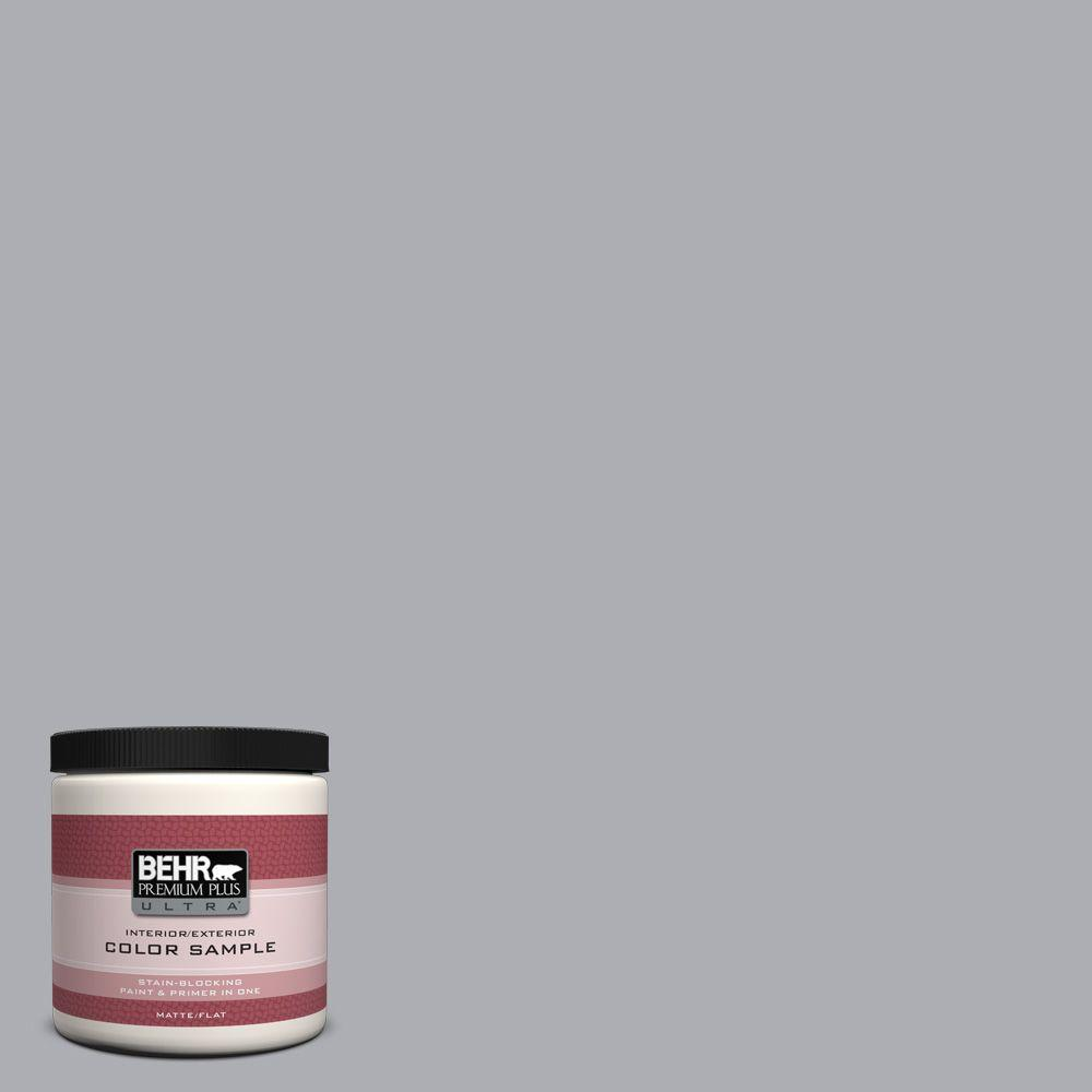 BEHR Premium Plus Ultra 8 oz. #760E-3 Gray Timber Wolf Interior/Exterior Paint Sample