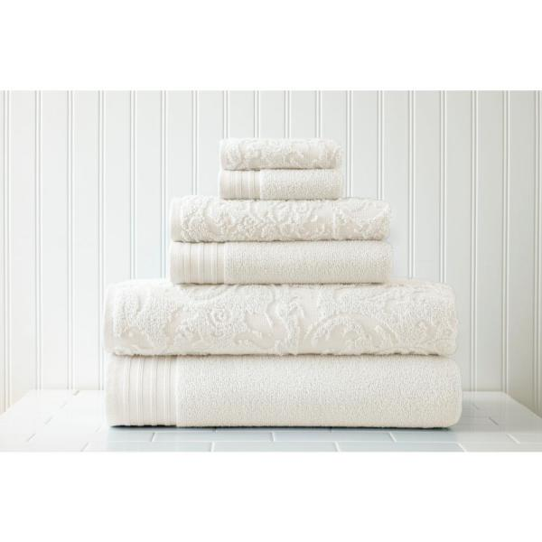 Luxury 6PC Solid Comfortable and Soft Bath Towel Set 100/% Combed Cotton