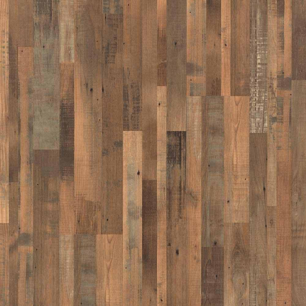 Pergo xp reclaimed elm 8 mm thick x 7 1 4 in wide x 47 1 for Reclaimed wood flooring