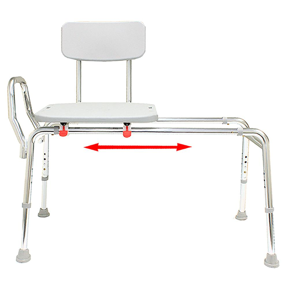 Superb Eagle Health Supplies Sliding Bath Transfer Bench Regular Base Length 39 In To 40 In 400 Lb Weight Capacity Heavy Duty Gmtry Best Dining Table And Chair Ideas Images Gmtryco