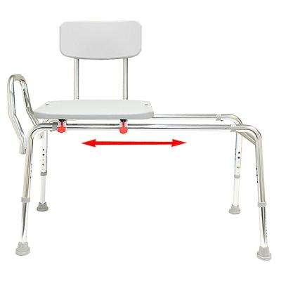 Sliding Bath Transfer Bench - Regular (Base Length: 39 in. to 40 in.) 400 lb. Weight Capacity - Heavy-Duty