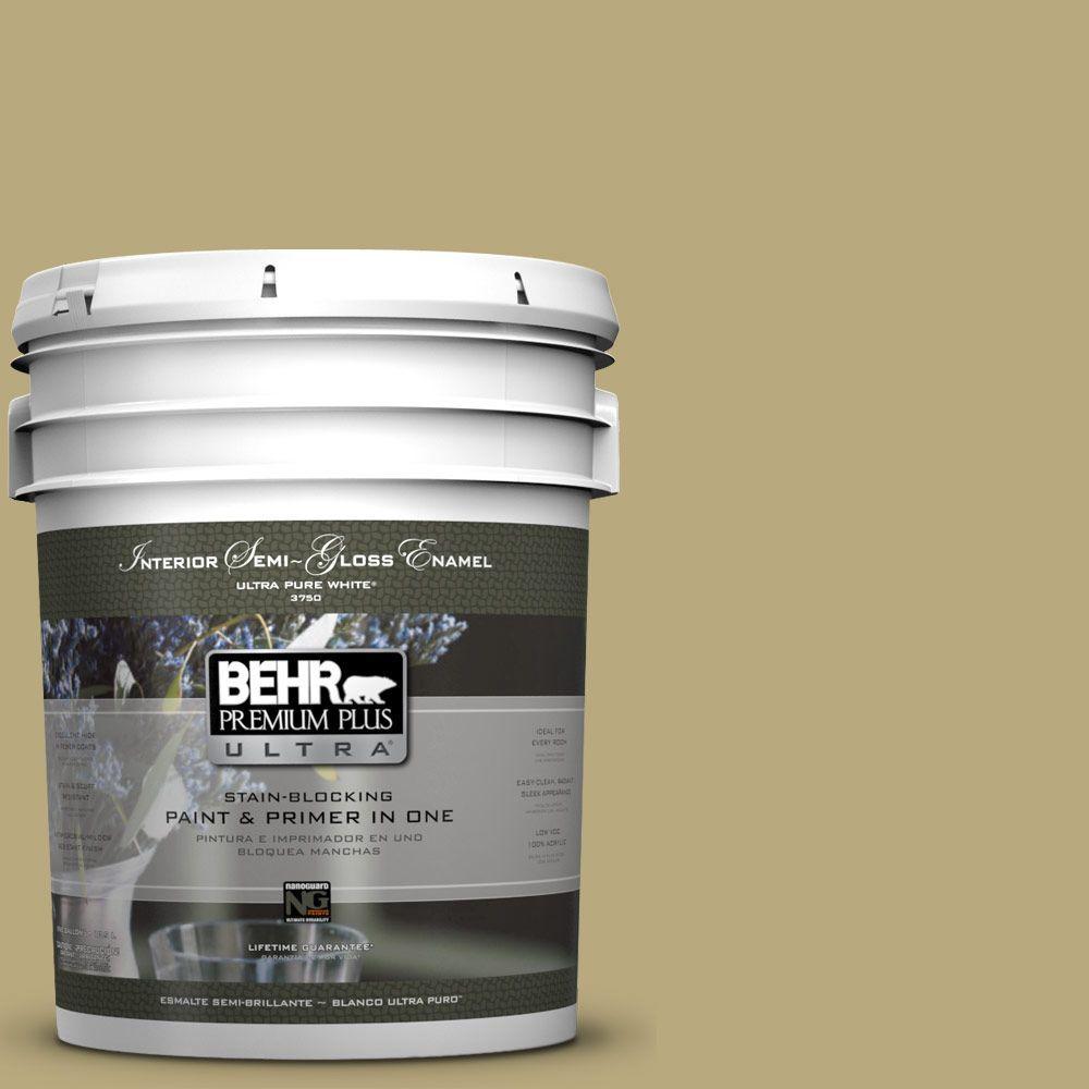 5-gal. #M330-5 Fresh Brew Semi-Gloss Enamel Interior Paint